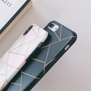 Accessories - NEW iPhone 7/8 Black and Gold Geometric Case